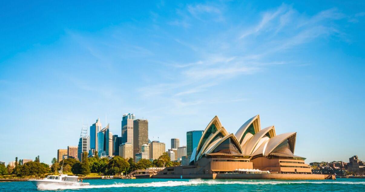 La opera de Sydney en Australia uno de los mejores lugares para estudiar inglés en el extranjero.