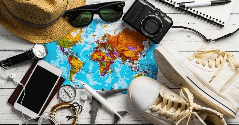 Todos los elementos necesarios para irse a estudiar inglés al extranjero.